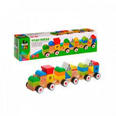 Bondibon Игрушка деревянная конструктор-каталка Чудо-поезд