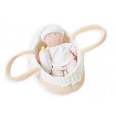 Bonikka Текстильный набор: кукла Grace Baby Carry 23 см, бутылочка, люлька