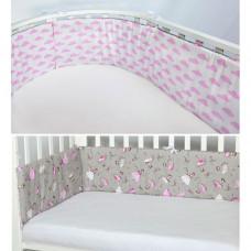 Бортик в кроватку AmaroBaby двухсторонний Мечта (4 подушки)