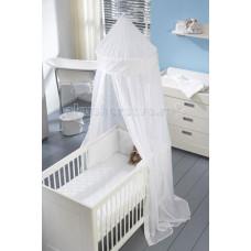 Бортик в кроватку Anel Ruche White 180х35