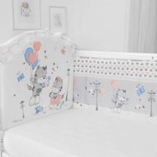 Бортик в кроватку Baby Nice (ОТК) Сердечки (бампер)