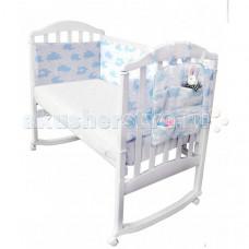 Бортик в кроватку Baby Nice (ОТК) Споки Ноки с органайзером Облака