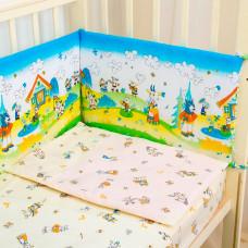Бортик в кроватку Baby Nice (ОТК) Споки ноки Семеро козлят