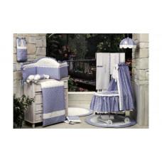 Бортик в кроватку BabyPiu Нежность - Мягкий бортик с вышивкой