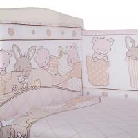 Бортик в кроватку BamBola Кармашки 360х40 см (4 детали)
