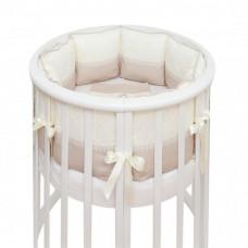 Бортик в кроватку Colibri&Lilly Cappuccino Round в круглую и овальную кроватку