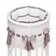 Бортик в кроватку Colibri&Lilly Graphite Round в круглую и овальную кроватку