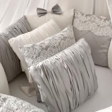 Бортик в кроватку Krisfi Angel Dream с кружевом