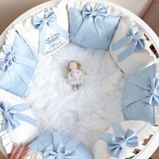 Бортик в кроватку Krisfi Безмятежность 12 подушек