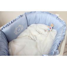 Бортик в кроватку Krisfi Голубые сны в прямоугольную и овальную кроватку