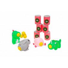 Bradex Набор стреляющих зверей с шариками и мишенью: поросёнок, кролик, дракон, динозавр