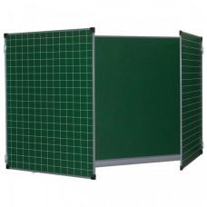 Brauberg Доска для мела магнитная 3-х элементная 100х150/300 см