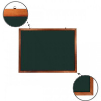 Brauberg Доска для мела магнитная деревянная рамка 90х120 см