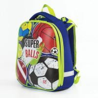 Brauberg Premium Ранец с 2-мя отделениями и брелоком для мальчиков Супер мячи
