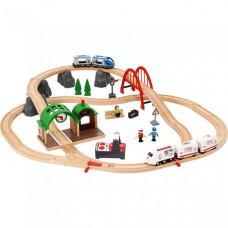 Brio Городская поездка с поездом на пульте ду с механической станцией и аксессуарами
