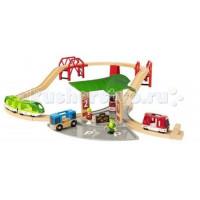 Brio Игровой набор с автовокзалом, 2 мостами и ж/д