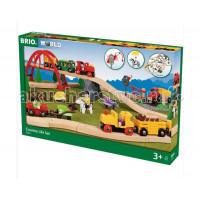Brio Игровой набор Загородная жизнь с паровозиками и аксессуарами