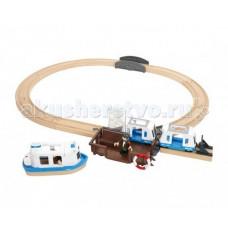 Brio Игровой набор Железная дорога с паромом и поездом