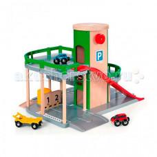 Brio Парковка к Ж/Д полотну с лифтом и 3 машинками