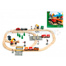 Brio Подарочный набор с Подъемниками, Переездами, Грузами и поездом на батарейках