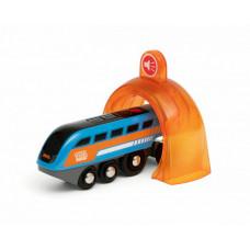 Brio Поезд Smart Tech Sound с интерактивным тоннелем с функцией звукозаписи