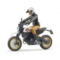 Bruder Мотоцикл Scrambler Ducati с мотоциклистом