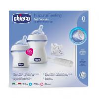 Бутылочка Chicco Набор для новорождённых Natural Feeling 2 шт. 150 мл, 250 мл