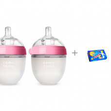 Бутылочка Comotomo Natural Feel Baby Bottle 0-3 мес. 150 мл 2 шт. и мыло Тик-так 150 г Свобода