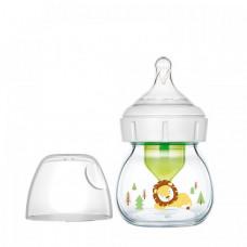 Бутылочка Dr.Brown's Антиколиковая Options+ с широким горлышком с соской для недоношенных Стеклянная Львёнок 60 мл
