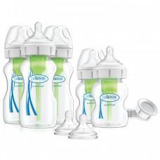 Бутылочка Dr.Brown's Набор из пяти антиколиковых бутылочек Options+ с широким горлышком 3х270 мл, 2х150 мл