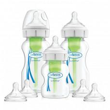 Бутылочка Dr.Brown's Набор из трёх антиколиковых бутылочек Options+ с широким горлышком 2х270 мл, 1х150 мл