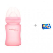 Бутылочка Everyday Baby Стеклянная с защитным силиконовым покрытием 150 мл и Мыло Свобода Тик-так 150 г