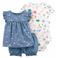 Carter's Комплект для девочки (боди, туника, шорты) 1K443610