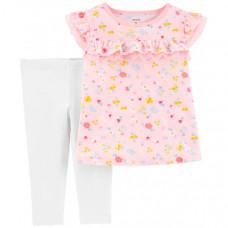 Carter's Комплект для девочки Цветочки (2 предмета)