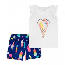 Carter's Комплект для девочки туника и шорты 2H377510