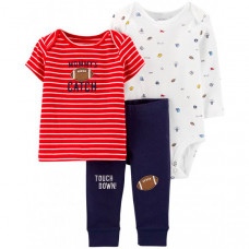 Carter's Комплект для мальчика (боди, футболка, брюки) 3 предмета 17644810