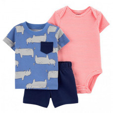 Carter's Комплект для мальчика (боди, футболка, шорты) 1K445710
