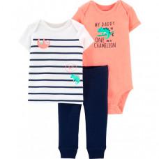 Carter's Комплект для мальчика (брюки, боди, футболка)