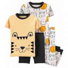 Carter's Пижама с тиграми для мальчика (2 футболки, шорты, брюки) 1K630010