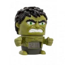 Часы Марвел (Marvel) Будильник BulbBotz минифигура Hulk Халк 14 см