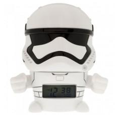 Часы Star Wars Будильник BulbBotz минифигура Stormtrooper 14 см