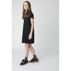 Черное платье с коротким рукавом Gulliver