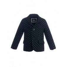 Черный пиджак в горошек Gulliver