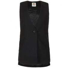 Черный удлиненный жилет Button Blue 219BBGS47010800