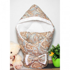 CherryMom Конверт-одеяло с капюшоном Цветочный орнамент (зима)
