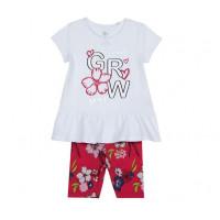 Chicco Комплект для девочек футболка и шорты Цветы grow 09076330