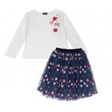 Chicco Комплект для девочек лонгслив и юбка 09076393
