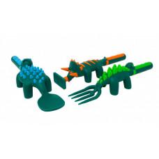 Constructive eating Набор из трех столовых приборов в виде динозавров