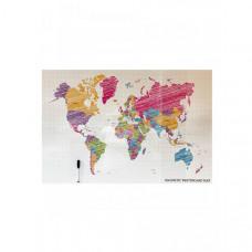 Continent Decor Магнитно-маркерная доска с изображением Карта мира