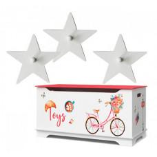 Continent Decor Маленький ящик для игрушек Путешествие в Париж с крючком
